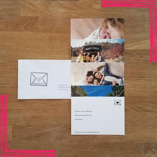 1 enveloppe contenant jusqu'à 5 cartes et expédiée avec amour une fois par mois pendant 1 an.
