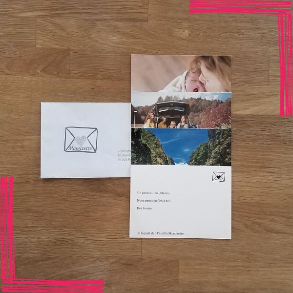 1 enveloppe contenant jusqu'à 4 cartes et expédiée une fois par semaine avec amour, pendant 1 an