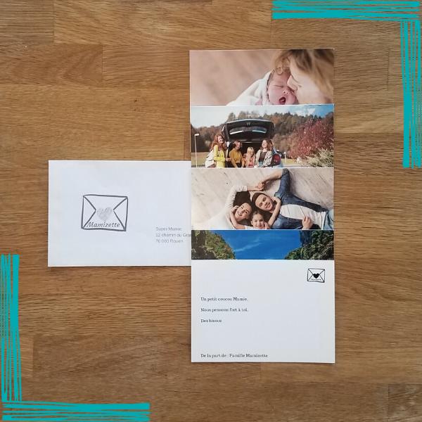 1 enveloppe contenant jusqu'à 5 cartes et expédiée avec amour une fois par mois, sans engagement